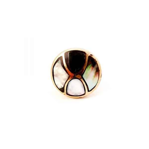 Black shell infinity knob 4 600x600 - Gold and Black Shell Infinity Knob