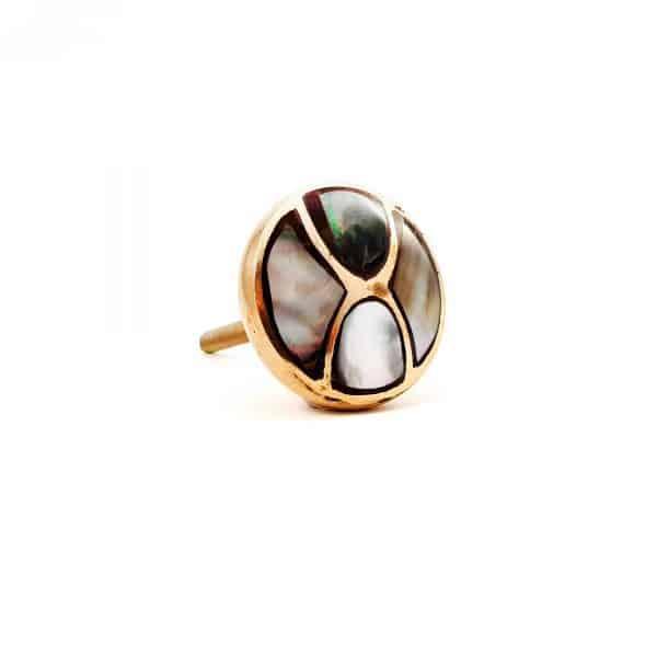 Black shell infinity knob 5 600x600 - Gold and Black Shell Infinity Knob