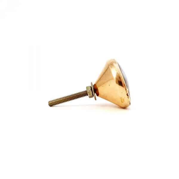 Black shell infinity knob 6 600x600 - Gold and Black Shell Infinity Knob