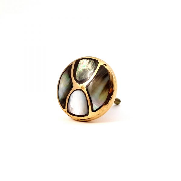 Black shell infinity knob 9 600x600 - Gold and Black Shell Infinity Knob
