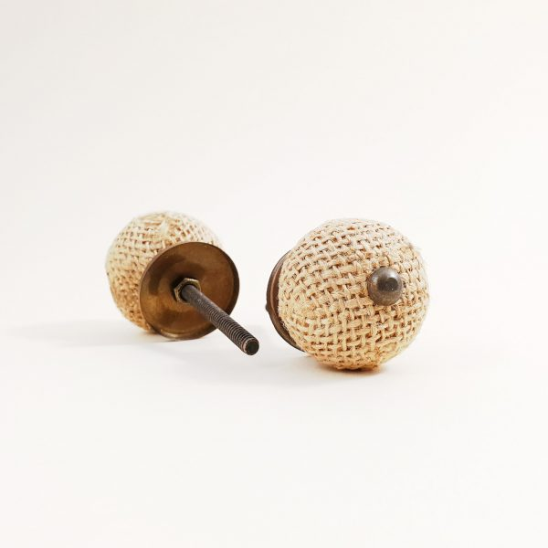 Button jute knob 1 600x600 - Button Jute Knob
