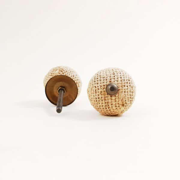Button jute knob 2 600x600 - Button Jute Knob