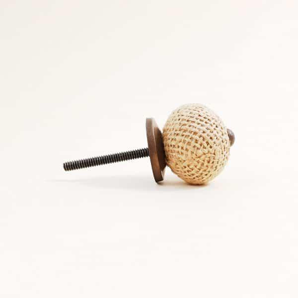 Button jute knob 6 600x600 - Button Jute Knob