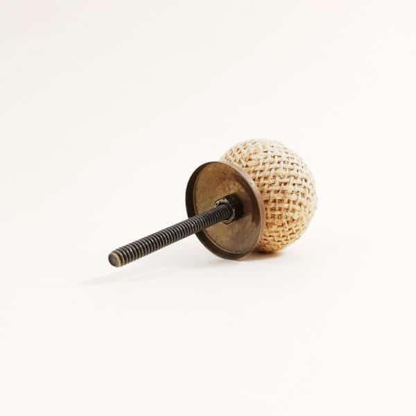 Button jute knob 7 600x600 - Button Jute Knob