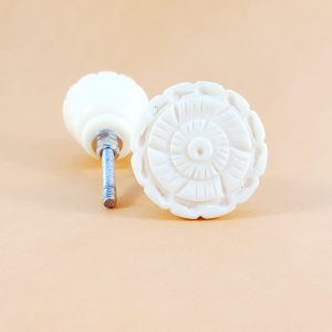 Carved white flower knob 1 300x300 - Carved Flower Knob