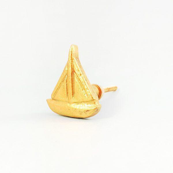 Gold sail boat 10 600x600 - Gold Sail Boat Knob