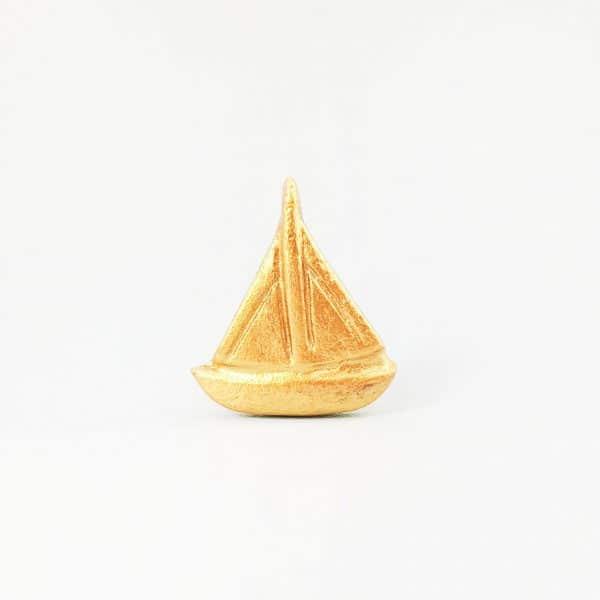 Gold sail boat 11 600x600 - Gold Sail Boat Knob