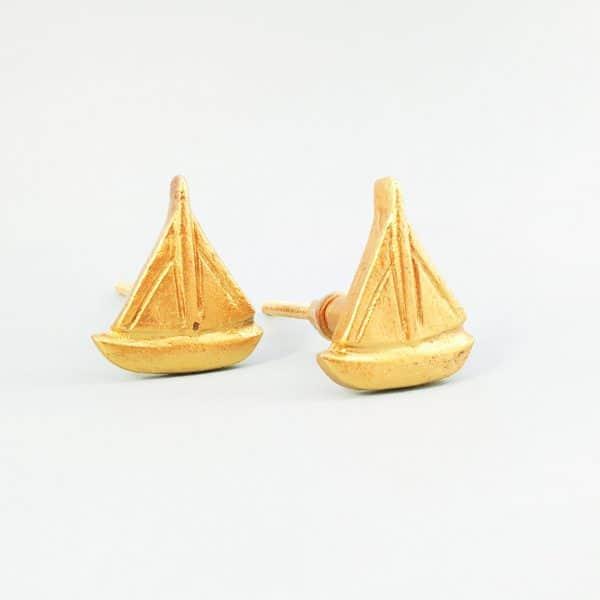 Gold sail boat 2 1 600x600 - Gold Sail Boat Knob