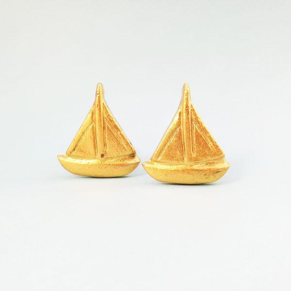 Gold sail boat 2 600x600 - Gold Sail Boat Knob