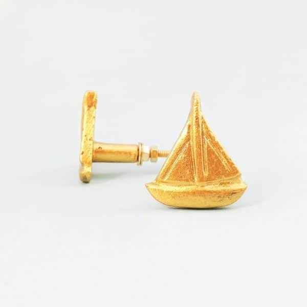 Gold sail boat 3 600x600 - Gold Sail Boat Knob