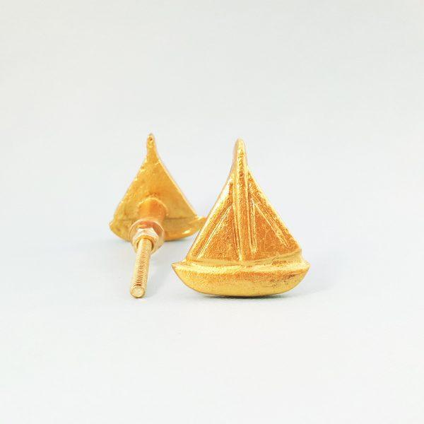 Gold sail boat 4 600x600 - Gold Sail Boat Knob