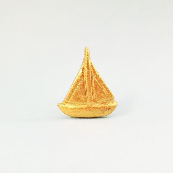 Gold sail boat 5 600x600 - Gold Sail Boat Knob