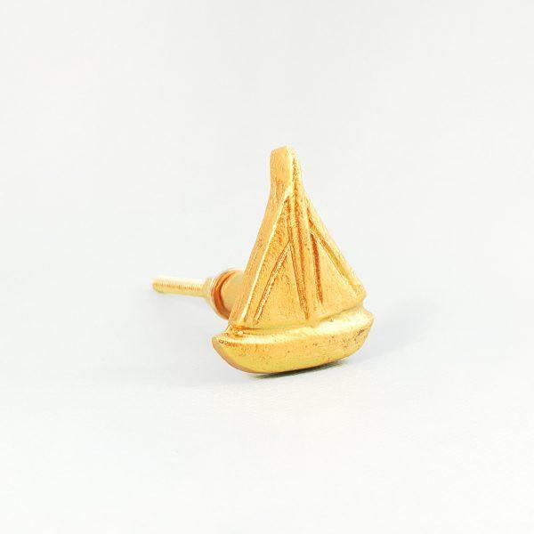 Gold sail boat 6 600x600 - Gold Sail Boat Knob