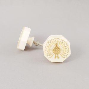 Lyerbird knob 3 300x300 - Gold Lyrebird Knob