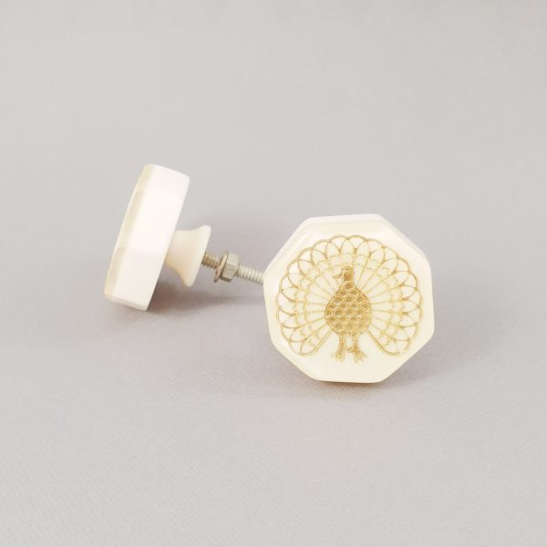 Lyerbird knob 3 600x600 - Gold Lyrebird Knob