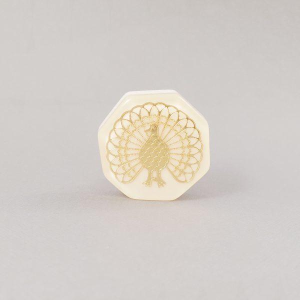 Lyerbird knob 4 600x600 - Gold Lyrebird Knob