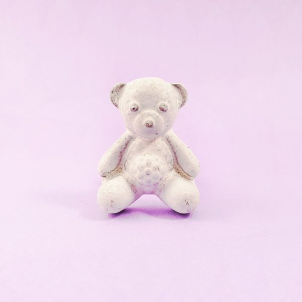 White Teddy Bear Knob