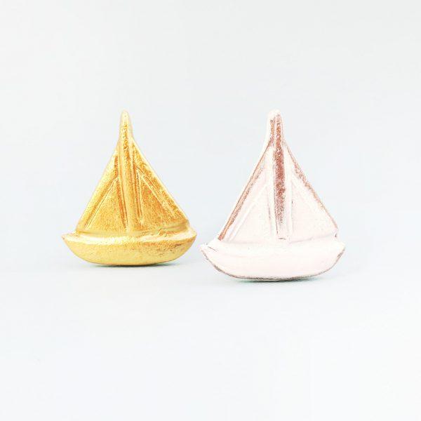 White sail boat 1 600x600 - Gold Sail Boat Knob