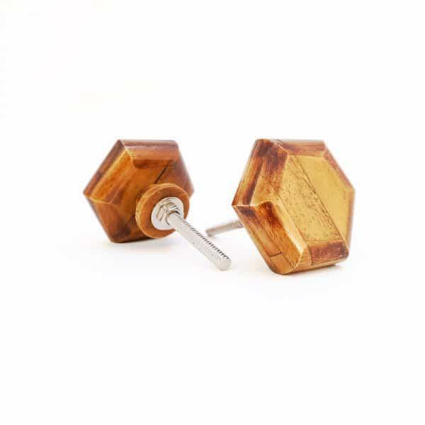 Wooden Hexagon knob 1 1 600x600 - Bone Hexagon Knob