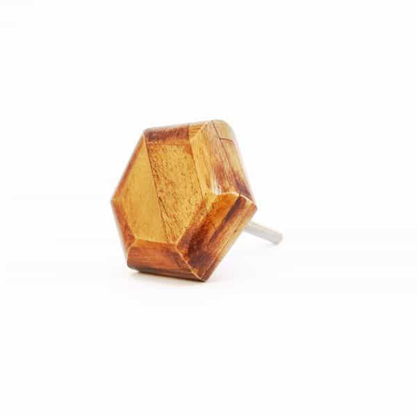 Wooden Hexagon knob 2 1 600x600 - Bone Hexagon Knob