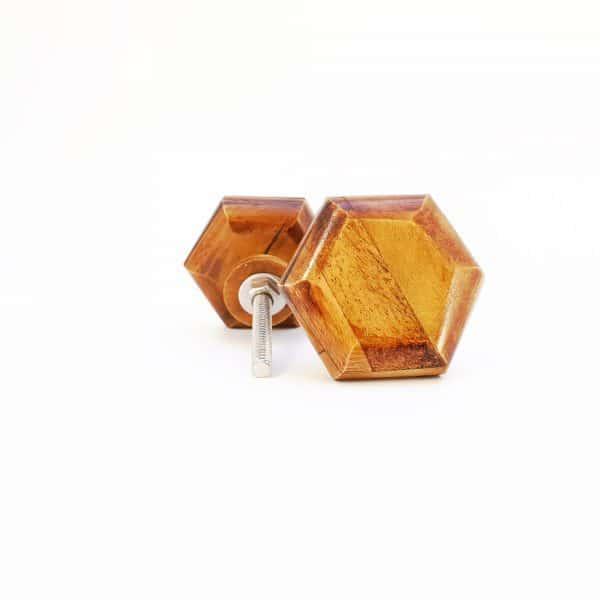 Wooden Hexagon knob 3 1 600x600 - Bone Hexagon Knob