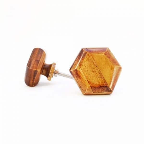 Wooden Hexagon knob02 1 600x600 - Bone Hexagon Knob