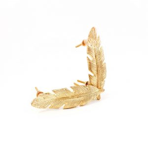 leaf handle 16 300x300 - Gold Feather Handle