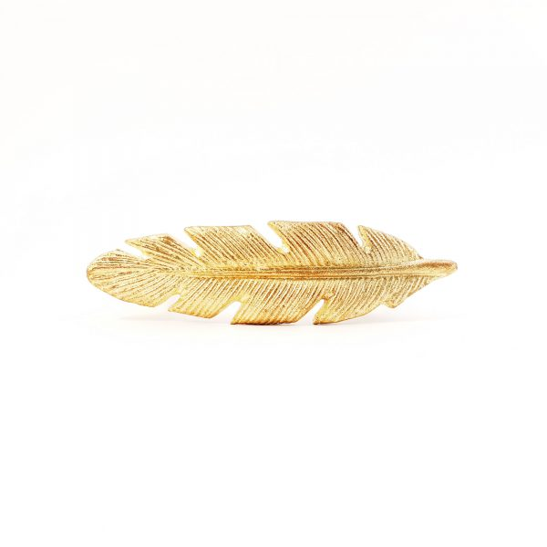 leaf handle 17 600x600 - Gold Feather Handle