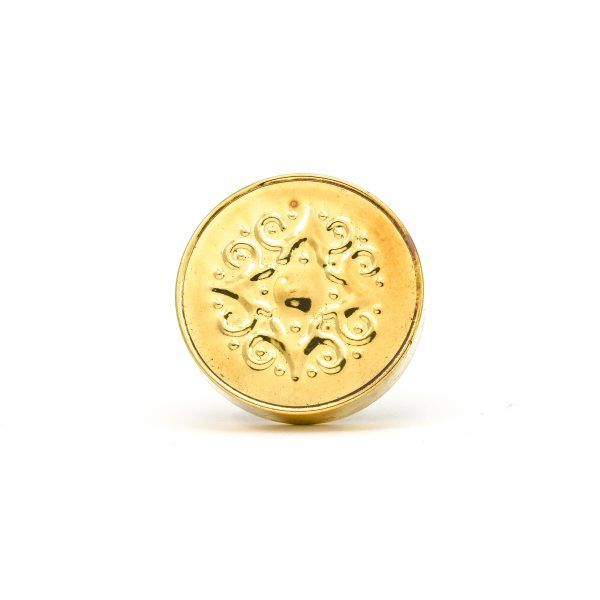 Gold Pressed Metal Knob