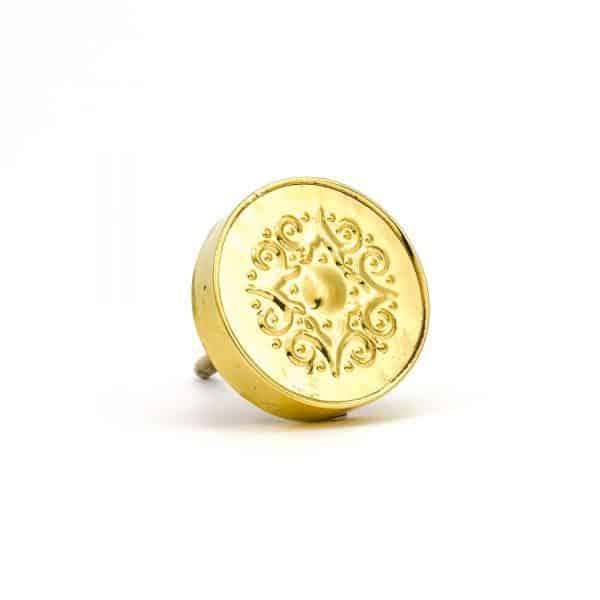 DSC 0171 Gold Pressed Metal Knob 600x600 - Gold Pressed Metal Knob