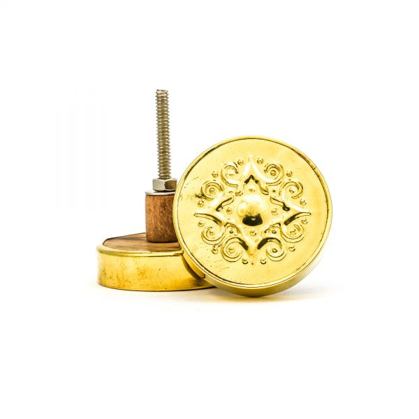 DSC 0175 Gold Pressed Metal Knob 600x600 - Gold Pressed Metal Knob