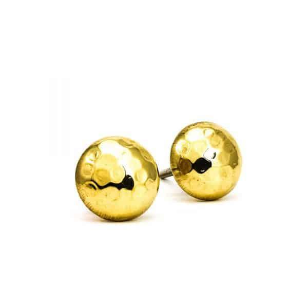 Gold Hammered Knob
