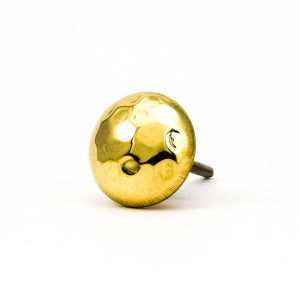 DSC 0222 Gold hammered knob 300x300 - Gold Hammered Knob