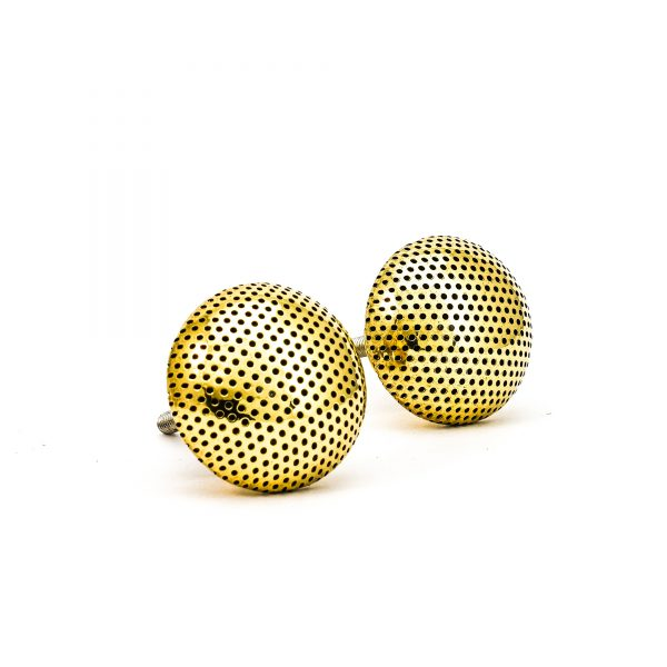 DSC 0248 Gold dotted knob 600x600 - Gold Dotted Knob