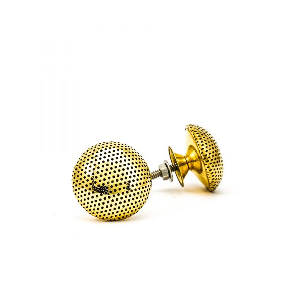 DSC 0249 Gold dotted knob 600x600 - Gold Dotted Knob