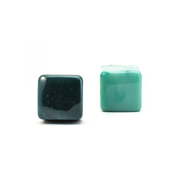 DSC 0277 Square dark green resin pull 600x600 - Turquoise Cubed Knob