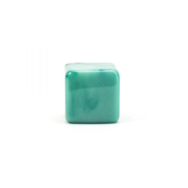 DSC 0283 Square Green resin pull 600x600 - Turquoise Cubed Knob