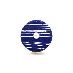 Round Classic Blue Striped Marble Knob