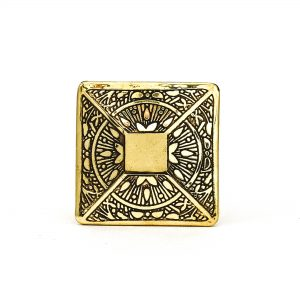 DSC 0340 Gold Square Etched Knob 300x300 - Gold Square Etched Knob
