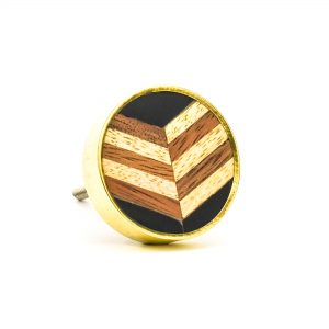 Herringbone and Brass Knob