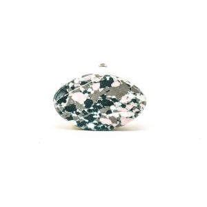 DSC 0384 Oval marble and grey terrazo knob 300x300 - Oval Marble and Resin Terrazzo Knob