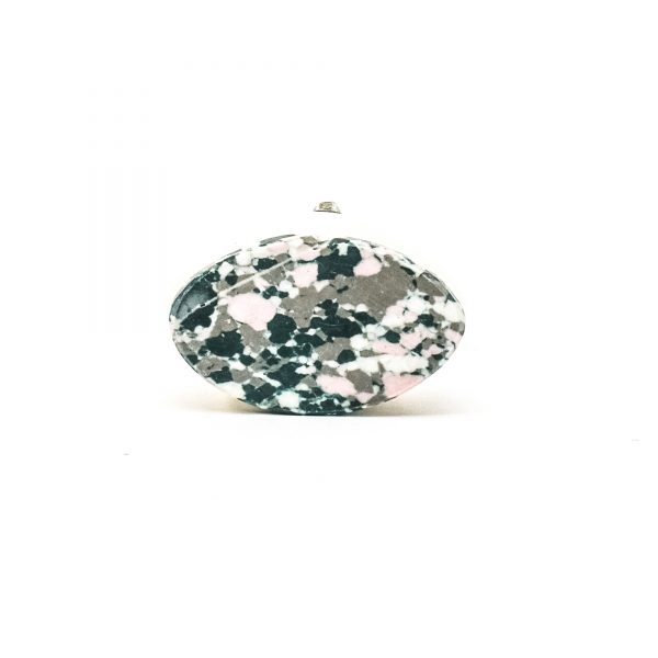 DSC 0384 Oval marble and grey terrazo knob 600x600 - Oval Marble and Resin Terrazzo Knob