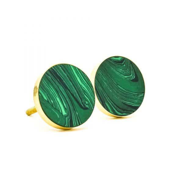 DSC 0389 Green Malachite Inspired knob 600x600 - Green Malachite Inspired knob