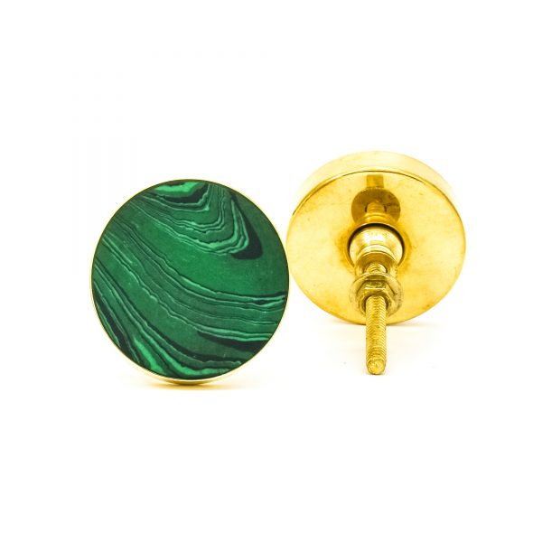 DSC 0391 Green Malachite Inspired knob 600x600 - Green Malachite Inspired knob