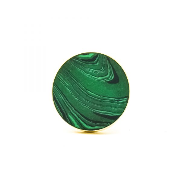 DSC 0392 Green Malachite Inspired knob 600x600 - Green Malachite Inspired knob