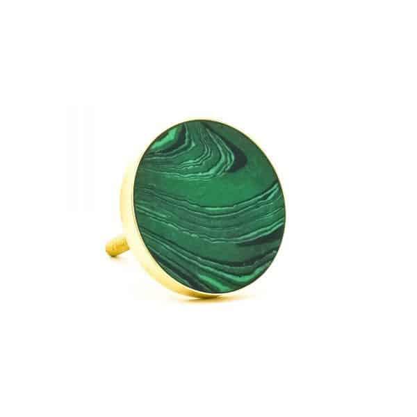 DSC 0393 Green Malachite Inspired knob 600x600 - Green Malachite Inspired knob
