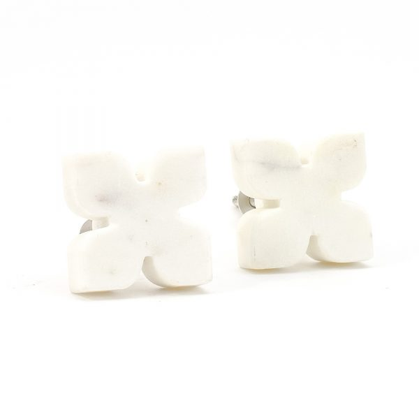 DSC 0397 White Petaled Marble Knob 600x600 - White Petaled Marble Knob