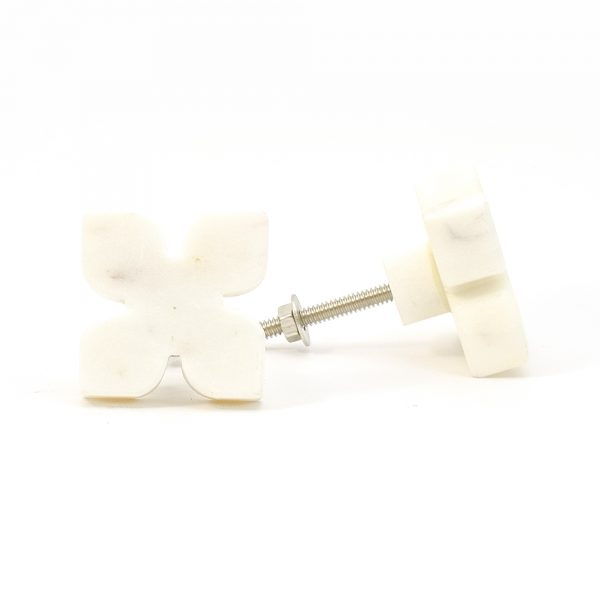 DSC 0398 White Petaled Marble Knob 600x600 - White Petaled Marble Knob