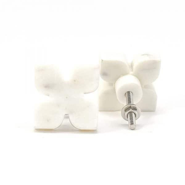 DSC 0399 White Petaled Marble Knob 600x600 - White Petaled Marble Knob