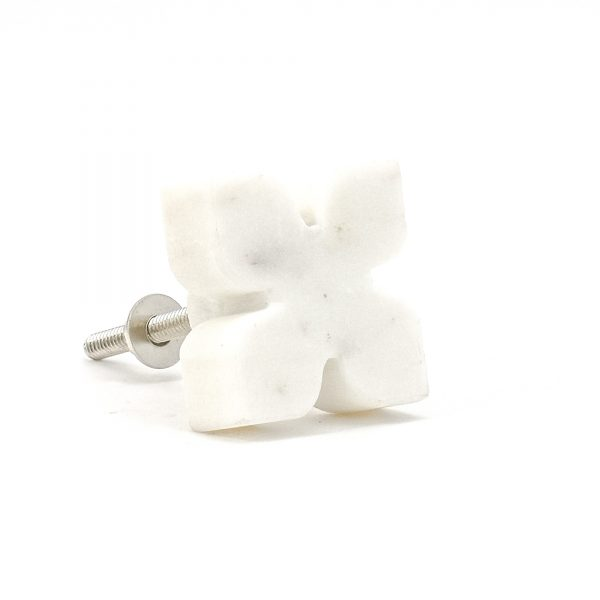 DSC 0401 White Petaled Marble Knob 600x600 - White Petaled Marble Knob
